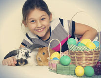 Child and a set of rodents Stock Photos