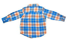 CHILD SHIRT EXHIBITION. Men`s shirt for children on a white background giving variations of classical style and united to the sense of the self-esteem and well Royalty Free Stock Image