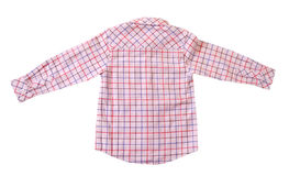 CHILD SHIRT EXHIBITION. Men`s long sleeve shirt for children on white background giving variations of classical style and united in the sense of the self-esteem Royalty Free Stock Images