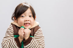 Child Shivering Background / Child Shivering / Child Shivering, Studio Isolated Background Royalty Free Stock Photos