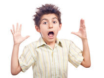 Child shocked Royalty Free Stock Images