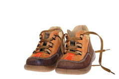 Child shoes royalty free stock images