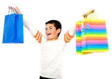 Child with shopping bags Stock Photography