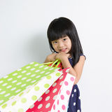 Child with shopping bags Royalty Free Stock Image