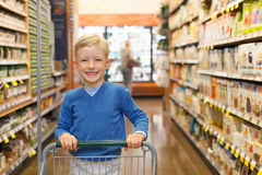 Child shopping Stock Images