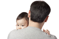 Child on the shoulder Royalty Free Stock Images