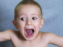 Child shouting Royalty Free Stock Photography