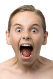 Child shouting Stock Photography