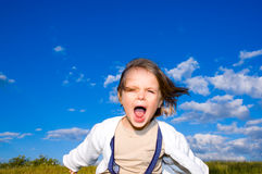 Child shouts Stock Image
