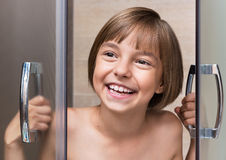 Child in shower Stock Photos