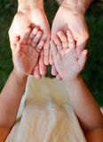 Child showing hands Royalty Free Stock Photos