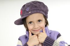 Child showing ok sign Royalty Free Stock Image