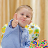 Child showing ok sign Royalty Free Stock Photos