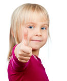 Child showing thumb Stock Photography