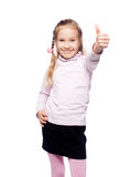 Child showing thumb up Stock Images