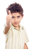 Successful child thumb up Royalty Free Stock Photography