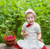 Child shows the sign of excellent Stock Image