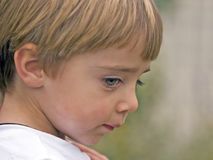Child Shy Expression Royalty Free Stock Images