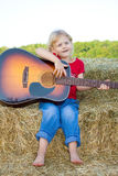 Child singing. Stock Photography