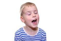 Child singing. Isolated Stock Photography