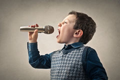 Child singing Stock Image