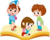 Children read royalty free illustration