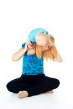 Child sits on the shoulders of her mother Royalty Free Stock Photography