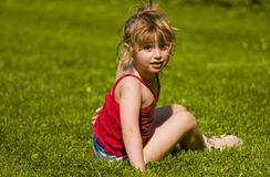 Child sitting Stock Images