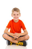 Child sitting floor Stock Photo