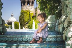 Free Child Sitting On The Stairs Stock Photo - 217990990