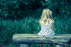 Child sitting and waiting Stock Photos