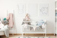 Child size bed Royalty Free Stock Image