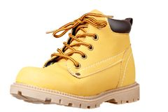 Child sized work boot stock images