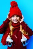 Child with skates Royalty Free Stock Photos