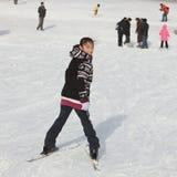 Child in ski Stock Photography