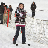 Child in ski Stock Images