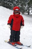 Child ski - first moves Royalty Free Stock Image