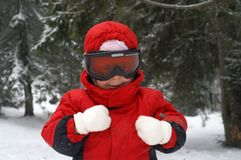 Child ski - smiling Stock Images