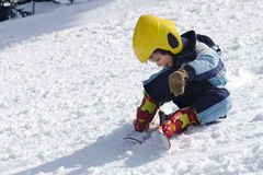 Child skier Royalty Free Stock Images