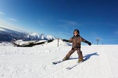 Child skiing Stock Photos