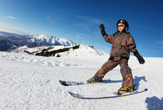 Child skiing Royalty Free Stock Images