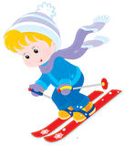 Child skiing Royalty Free Stock Photos