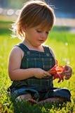Child, Skin, Grass, Sitting stock photography