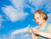 Child and sky Stock Photos