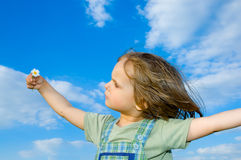 Child and sky Royalty Free Stock Photos
