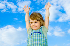 Child and sky Royalty Free Stock Image