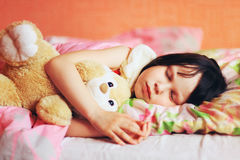 The child sleep. Royalty Free Stock Photo