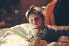 Child awake Stock Photography