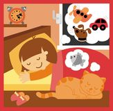 Child sleep in nursery Stock Images