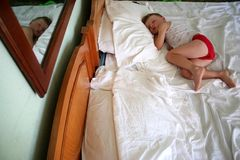 Child sleeping Stock Photo